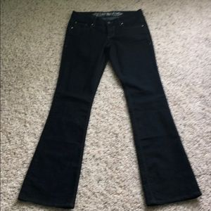 Express Stella boot cut low rise dark jeans size 0